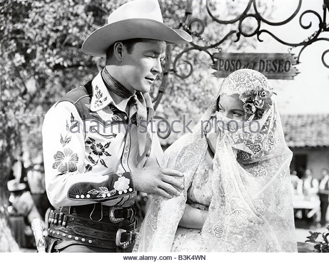 apache-rose-1947-republic-film-with-roy-rogers-and-donna-martell-b3k4wn.
