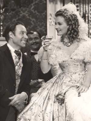 Bill-Elliott-as-Johnny-Barrett-with-Constance-Moore-as-Belle-Malone-in-In-Old-Sacramento-1946.