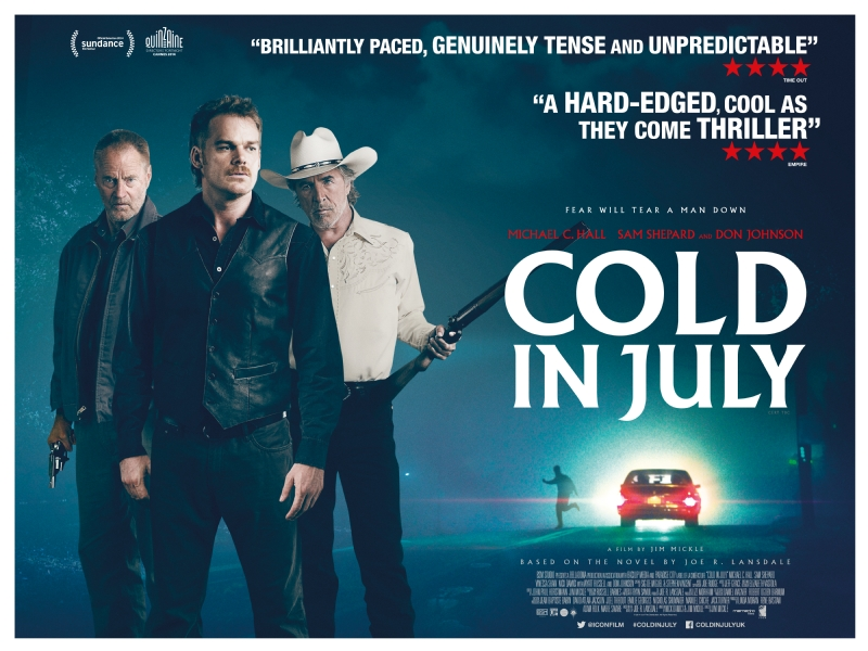 Cold in July poster.