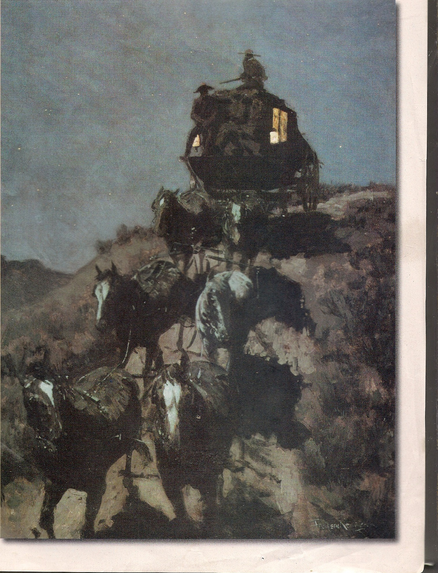 Frederic Remington 1902 The Old Stage Coach of the Plains.