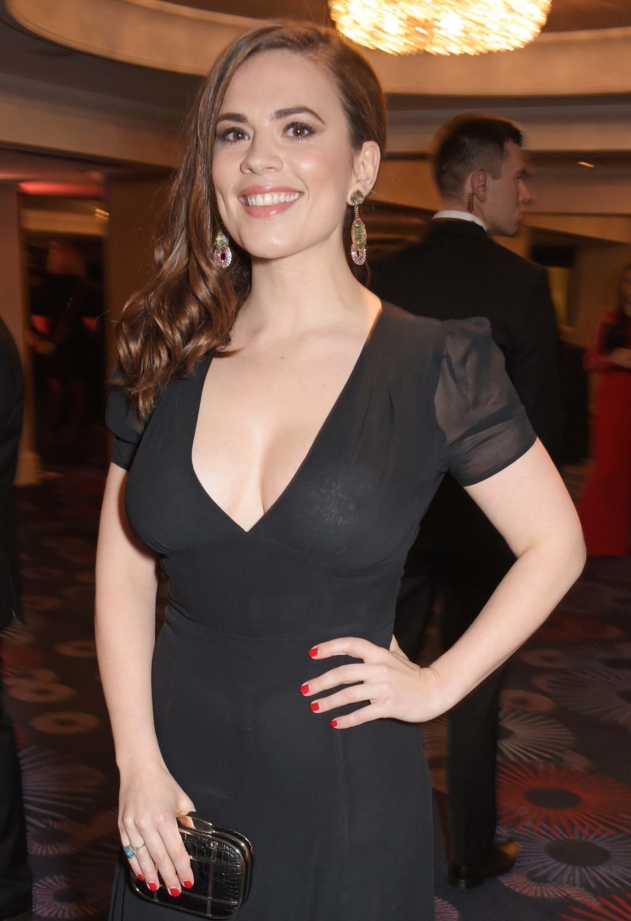 Hayley-Atwell-See-Through-Dress.