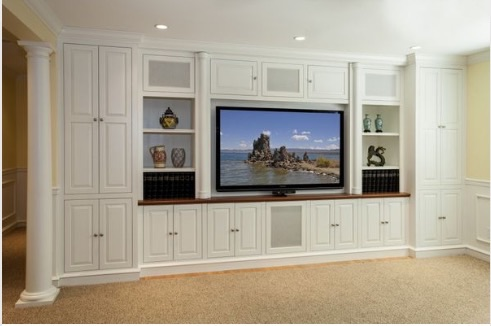 Built In Unit Around In Wall Speakers Help Home Theater Forum
