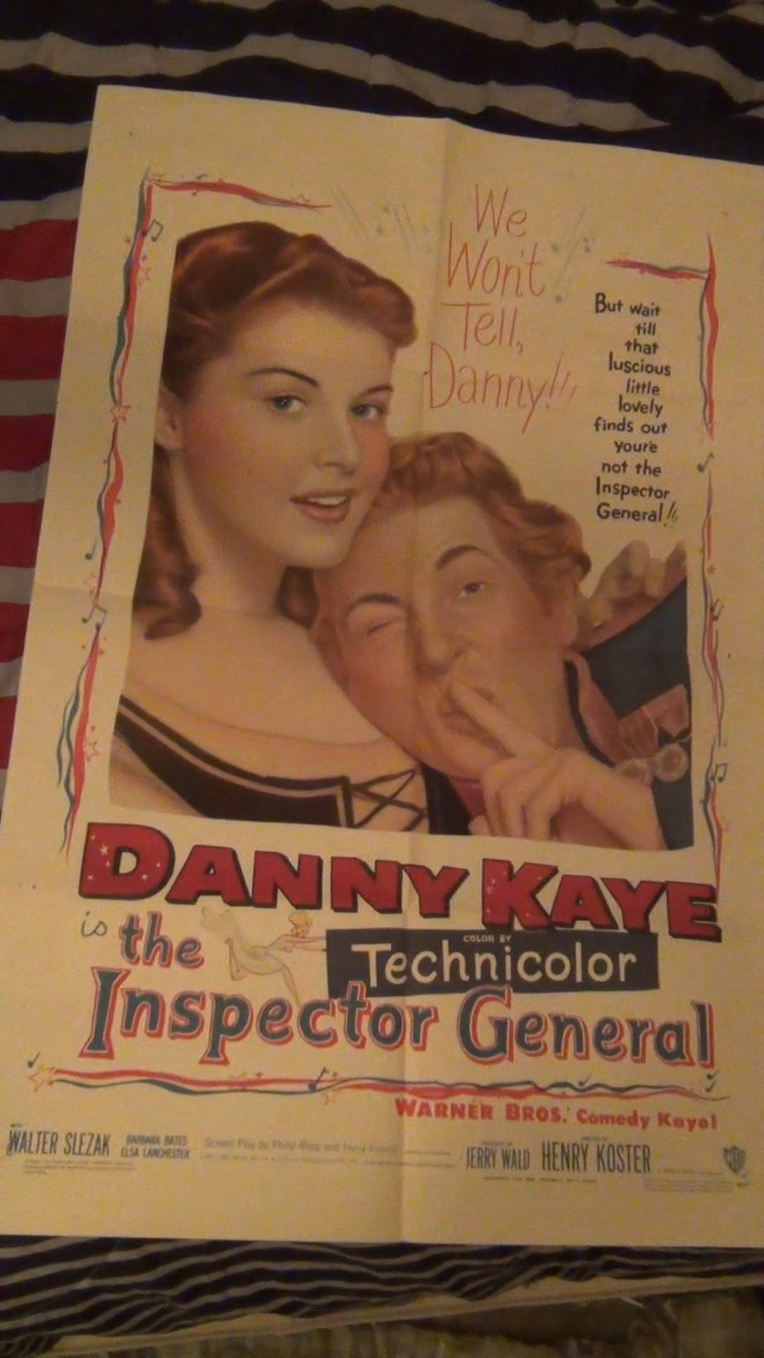 The inspector general Danny Kaye movie poster print