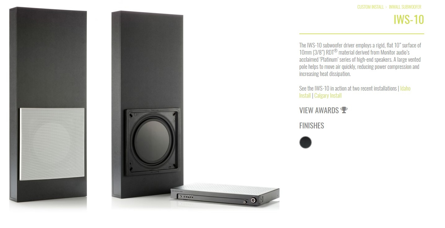 Good speakers to fit in special design TV wall