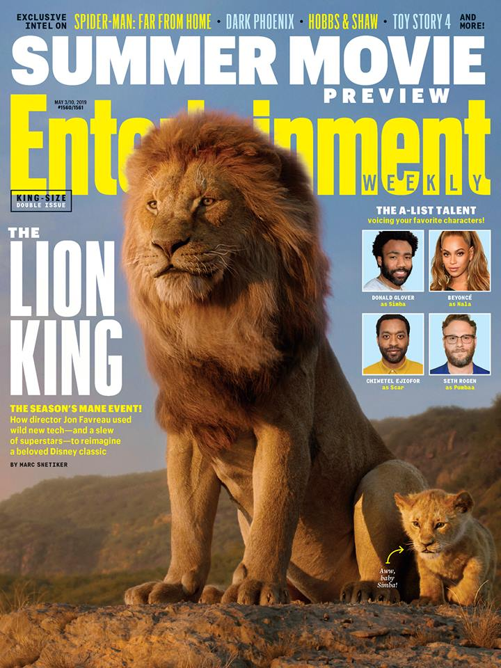 Lion King EW cover.
