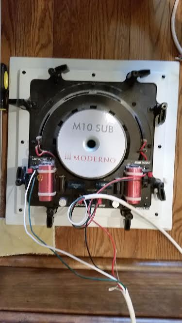 wiring of in wall subwoofer moderno m10 rh hometheaterforum com Dual 4 Ohm Subwoofer Wiring Dual 4 Ohm Subwoofer Wiring
