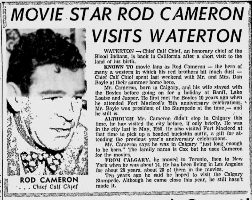 Rod Cameron Herald June 27, 1959..JPG
