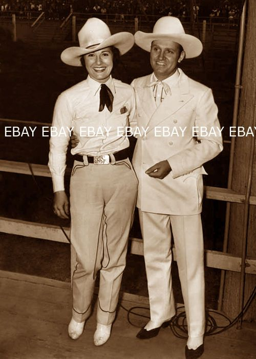 Ruth Mix with Gene Autry.