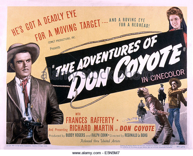 the-adventures-of-don-coyote-richard-martin-left-frances-rafferty-e5n5m7.