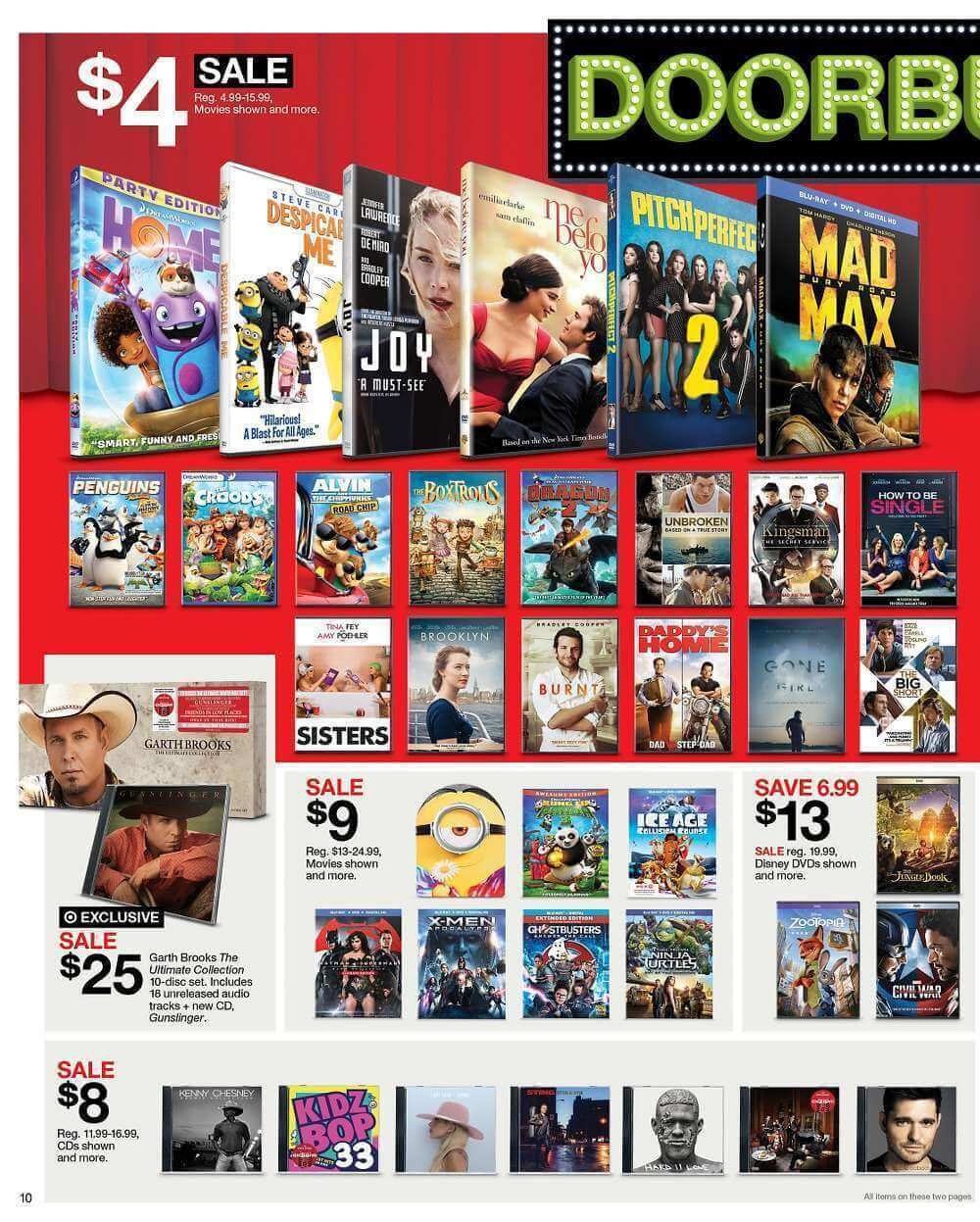 Target Home Store: 2016 Black Friday Blu Ray DVD Deals