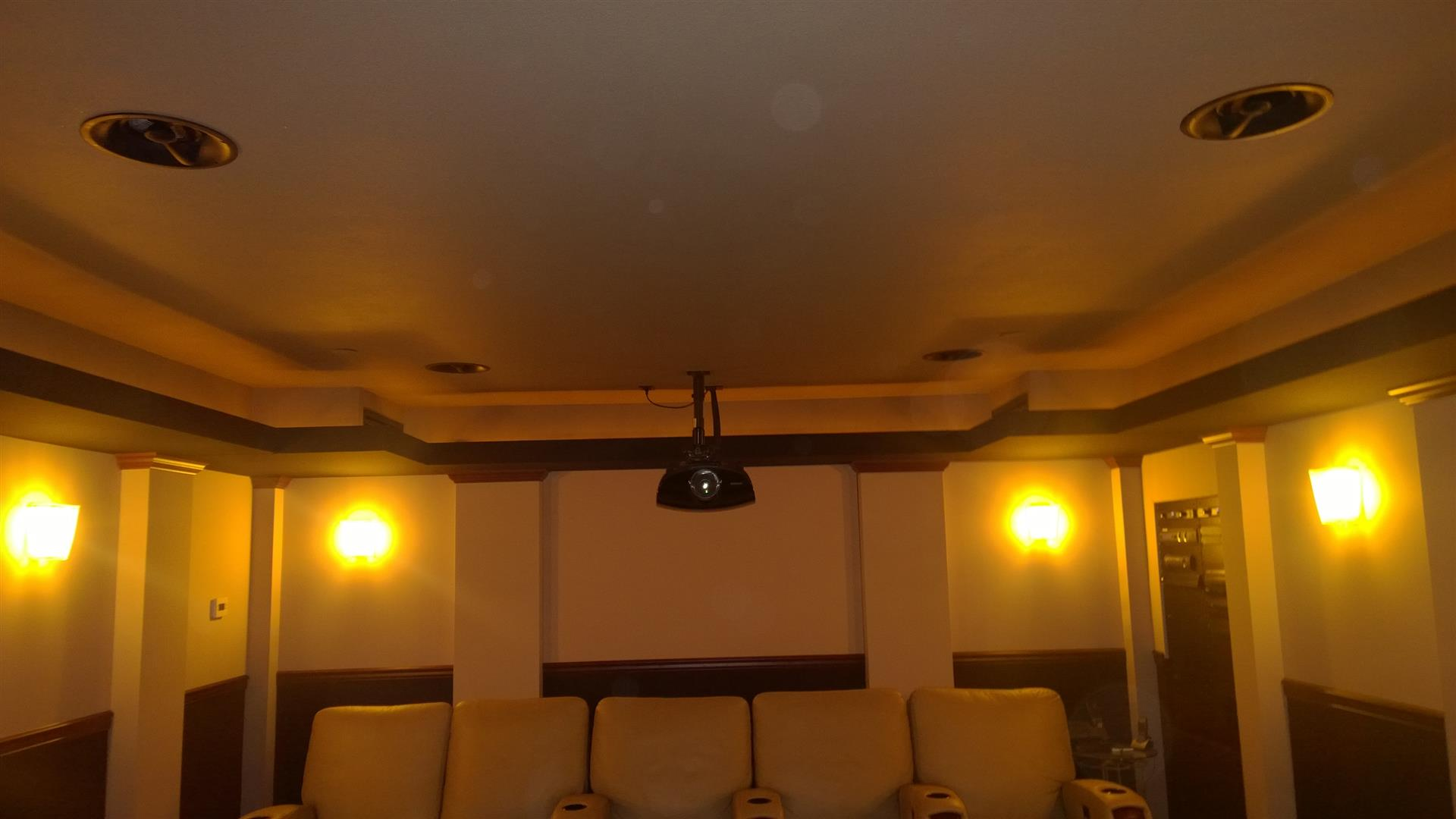 atmos speakers black tan home theater theater photos. Black Bedroom Furniture Sets. Home Design Ideas