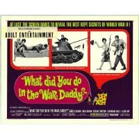 1966 What Did You Do War Daddy movie poster