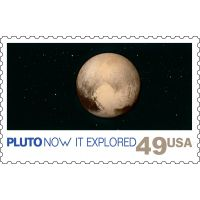 Pluto Now It Explored Postage Stamp
