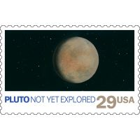 Pluto Not Yet Explored Postage Stamp