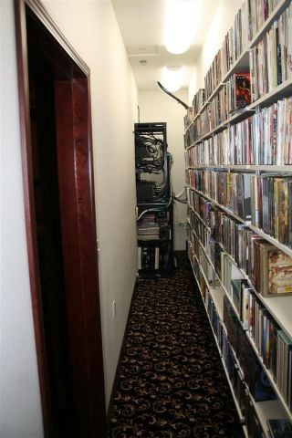 Equipment and Movie Storage Closet