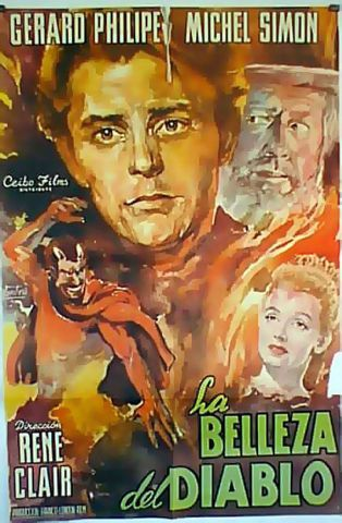 1950 The beauty And The devil poster