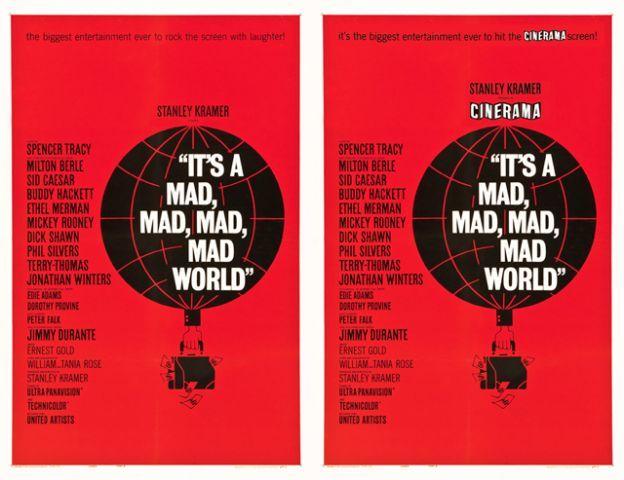 saul bass Its A Mad Mad Mad Mad world poster