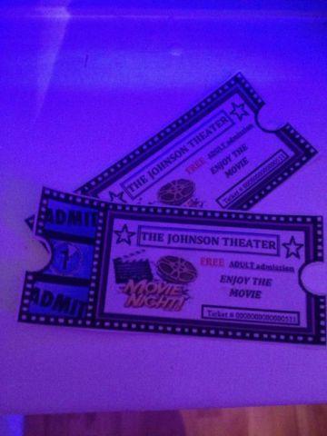 custom movie tickets