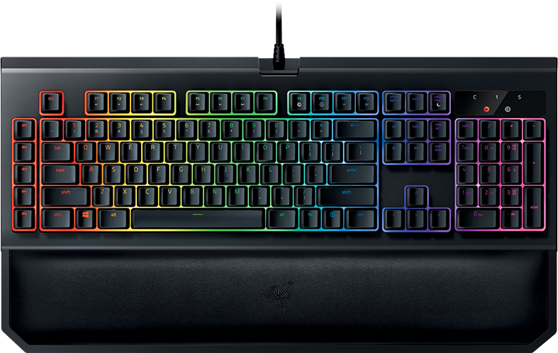 razer blackwidow chroma v2 keyboard with wrist rest